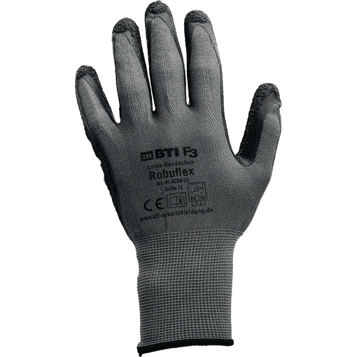 Arbeitshandschuhe Latex Handschuh Robuflex, grau, Größe 11, 12 Paar Farbe: grau
